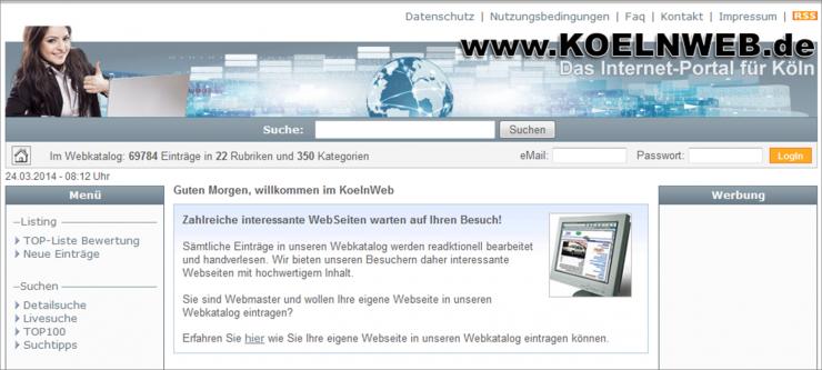 Branchenportal www.koelnweb.de im neuen Design