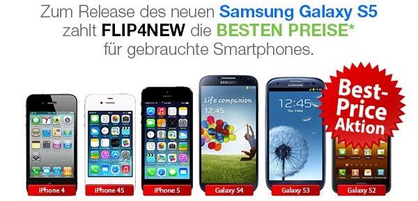Das Samsung Galaxy S5 bis zu 40%* günstiger