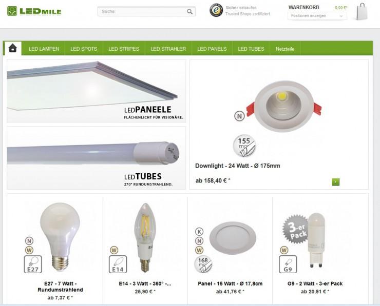 Erster Led Leuchtmittel Shop mit Nutzererfahrung ist gestartet. - Beste Usability für Led Lampen-Käufer wurde umgesetzt.