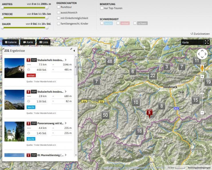 Über 200 der schönsten Wanderrouten in Tirol: das neue Tourenportal der Wanderhotels