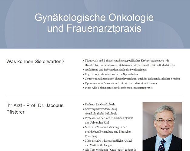 Jacobus Pfisterer - Zentrum für Gynäkologische Onkologie Kiel