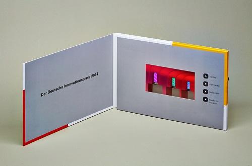 i look innovations GmbH überraschte Gäste beim Deutschen Innovationspreis 2014 mit innovativer Video Card zum Live-Event