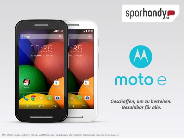 Jetzt bei Sparhandy.de das neue Motorola Moto E vorbestellen