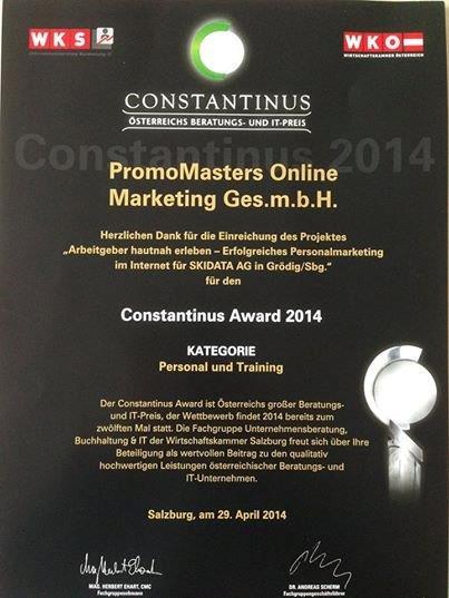 Beraterpreis Constantinus: PromoMasters reicht Employer Branding Projekt ein