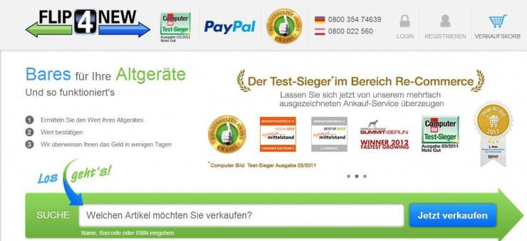 FLIP4NEW wird noch schneller - mit PayPal