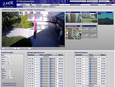 Videoüberwachung: C-MOR Version 4.10 verfügbar im neuen Look