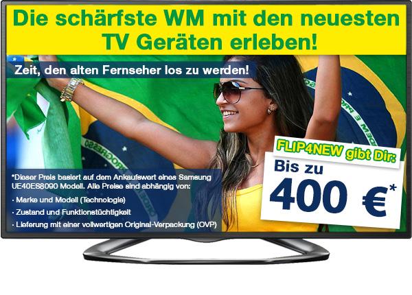Zur WM kauft FLIP4NEW verstärkt TV-Geräte an