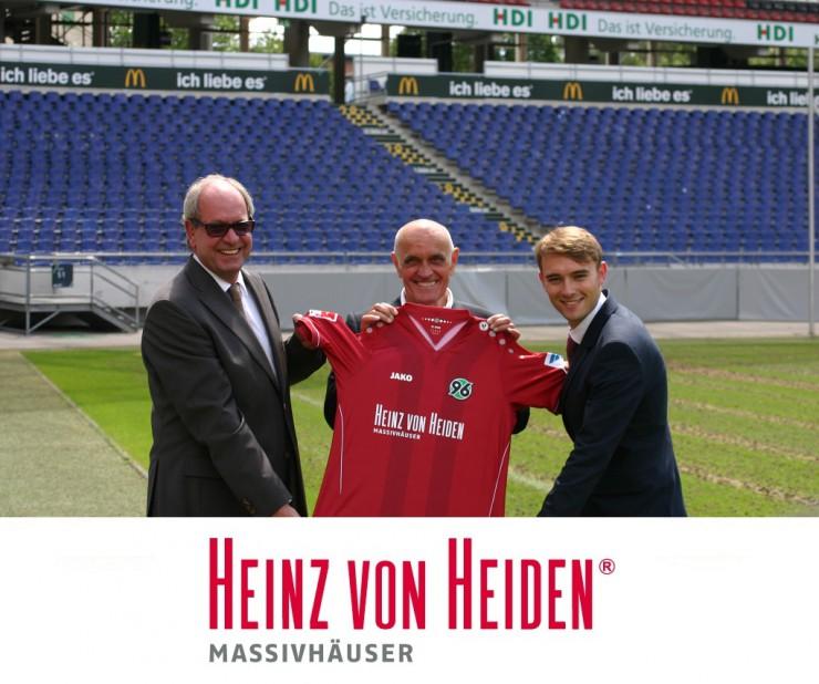 Heinz von Heiden ist neuer Haupt- und Trikotsponsor von Hannover 96
