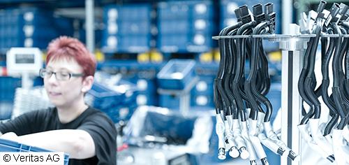 Automatische Nivellierung der Produktion auf Montageinseln bei Veritas AG