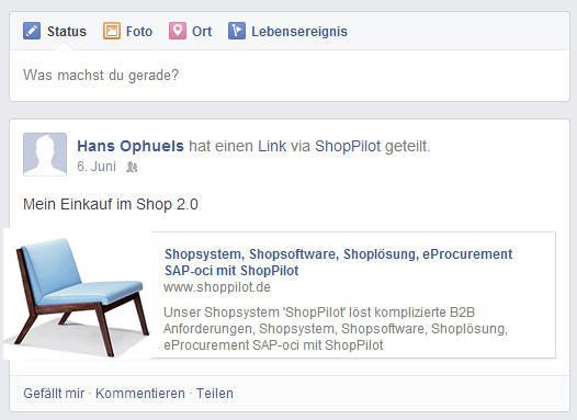 Facebook Integration im Onlineshop am Beispiel ShopPilot