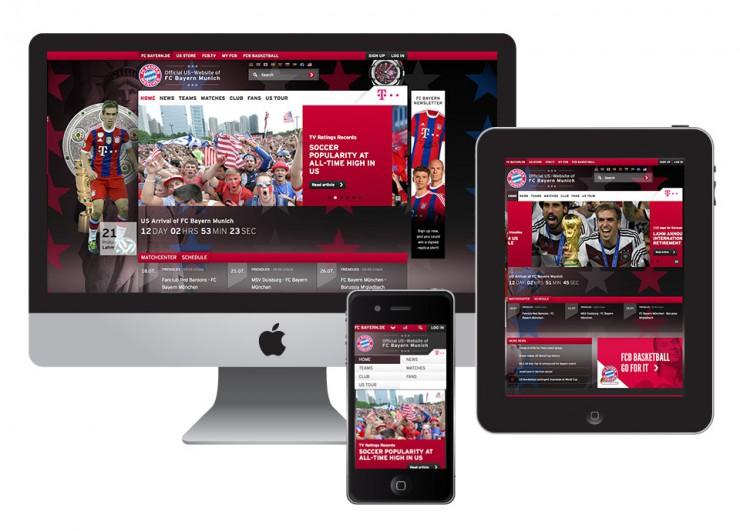 BTD betreut Launch der neuen US-Website des FC Bayern