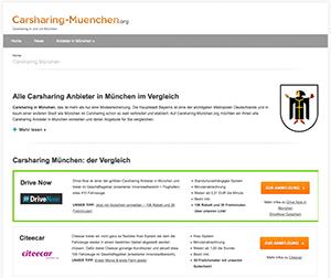 Das Vergleichsportal Carsharing-Muenchen.org ist online