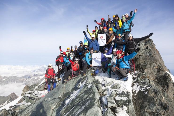 Benefiz-Bergtour der Österreichischen Lotterien: Gipfelsturm auf den Großglockner