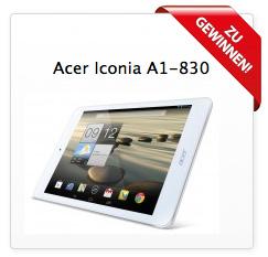 Jetzt ein Acer Iconia A1-830 Tablet gewinnen!