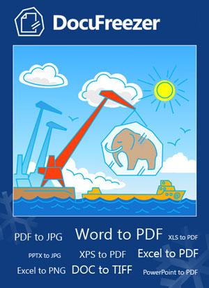 Konvertieren Sie kostenlos mit dem DocuFreezer Dokumente in PDF, JPG, TIFF oder PNG