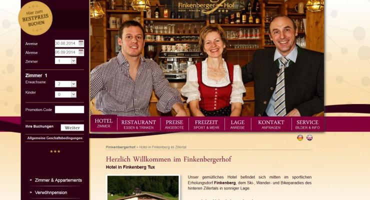 Hotel Finkenbergerhof in Finkenberg im Tiroler Zillertal