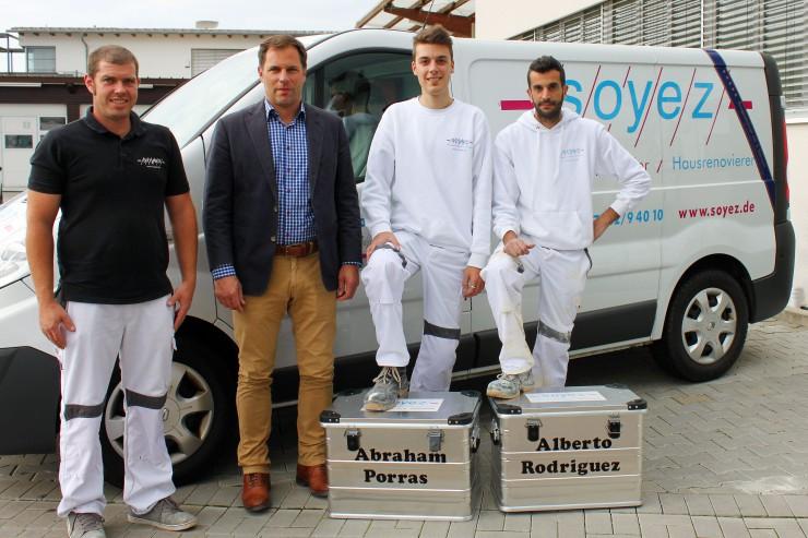 Spanische Azubis beginnen Handwerkslehre in Ilsfeld
