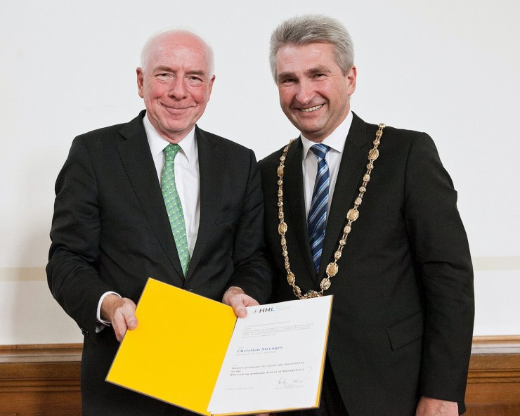 Christian Strenger zum Honorarprofessor an die HHL Leipzig Graduate School of Management  bestellt