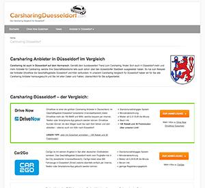 Spezielles Carsharing-Portal für Düsseldorf bietet kostenlosen Anbieter-Vergleich