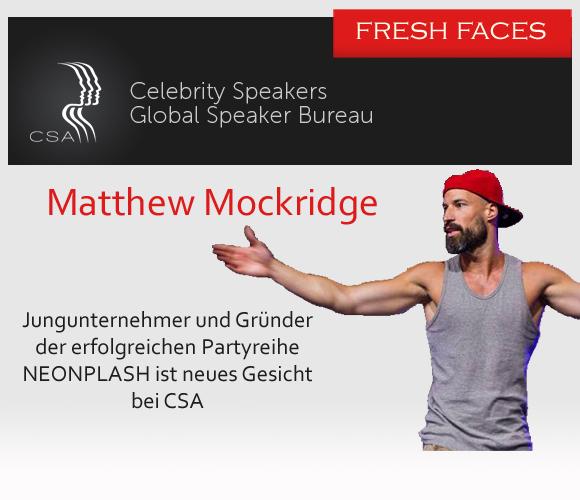 Die Redneragentur Celebrity Speakers freut sich über ein neues Gesicht: