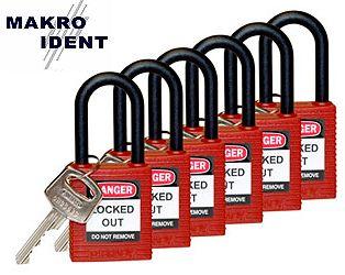 Sicherheitsschlösser mit isoliertem Zylinder und Nylonbügel für mehr Sicherheit