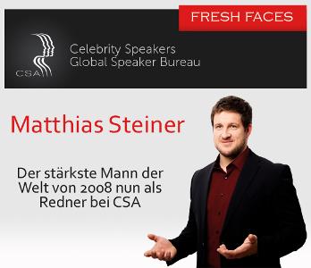 Matthias Steiner - der stärkste Mann der Welt nun als Redner bei der CSA Redneragentur
