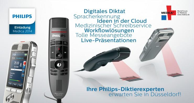 Innovationen für medizinische Diktierer: Philips auf der Medica 2014
