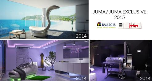 JUMA / JUMA EXCLUSIVE: Von den Design-Highlights 2014 zum neuen Produktdesign 2015 - Vorstellung auf der BAU und imm Cologne