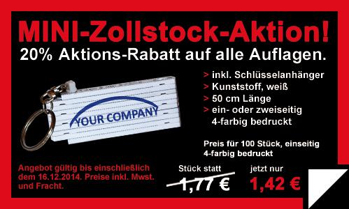 Mini-Zollstock-Aktion bei Primus-Print.de bis einschließlich dem 16.12.2014
