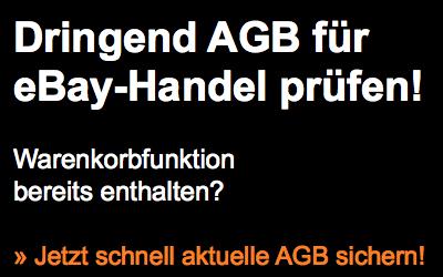 Dringend neue Warenkorb-Funktion in AGB für eBay anpassen