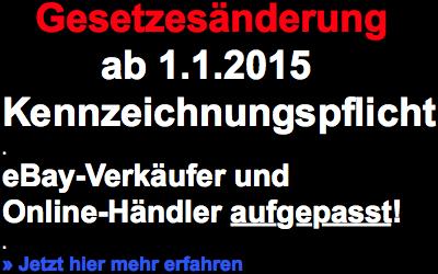 eBay-Händler aufgepasst: Neue Gesetzesänderungen ab dem 1. Januar 2015