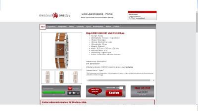 Onedealoneday.de das Live Shopping Portal von Uhren bis zum Schmuck