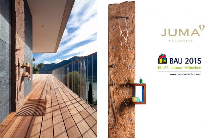 BAU 2015 - Trendprodukte: Duschstele JUCASCADE von JUMA EXCLUSIVE