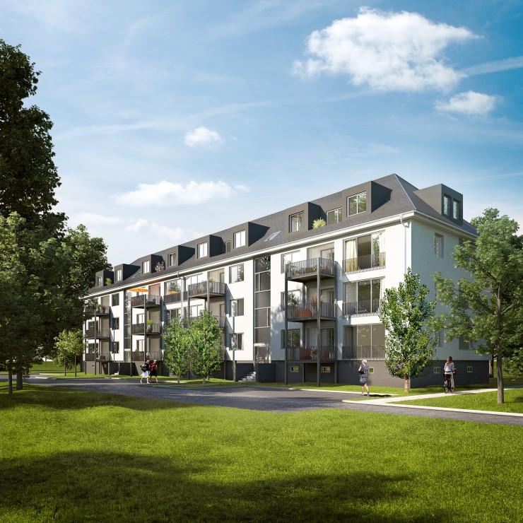 AVITA-Revitalisierung in Hanau erfüllt als erstes Konversionsprojekt den höchsten Energieeffizienz-Standard  EH 55 bei gleichzeitigem altersgerechten Umbau