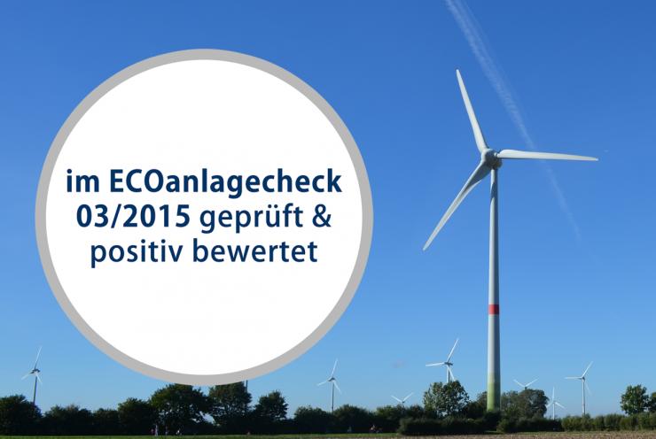 Positiver ECOanlagecheck für aktuelle Direktbeteiligung CEPP WE05 - Beppener Bruch V