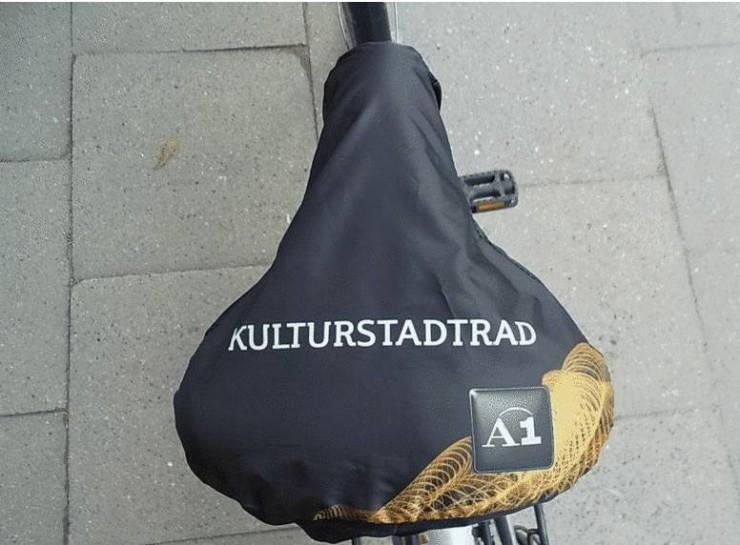Umweltfreundlich und Werbeeffizient - der Fahrradsattelschutz