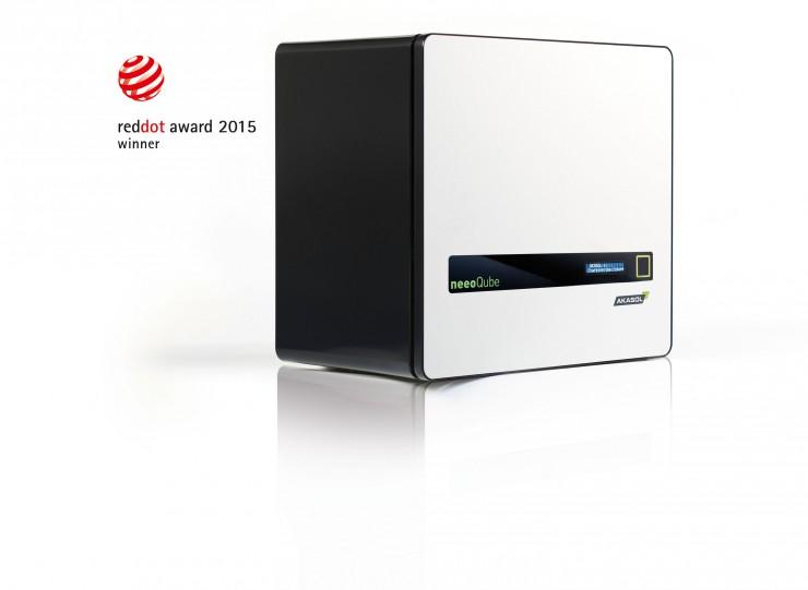 Top-Produktdesign: Red-Dot-Award für den neeoQube von AKASOL : Stylischer Energiespeicher von AKASOL mit dem Designpreis ausgezeichnet