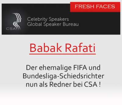 Babak Rafati ist neues Gesicht bei der CSA Redneragentur