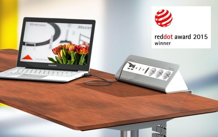 Red Dot Award für das Kindermann CablePort desk2