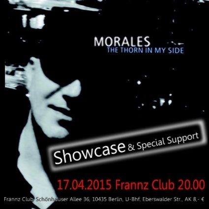 Showcase am 17.04.2015 von MORALES Live und Verlosung von Tickets und CDs!