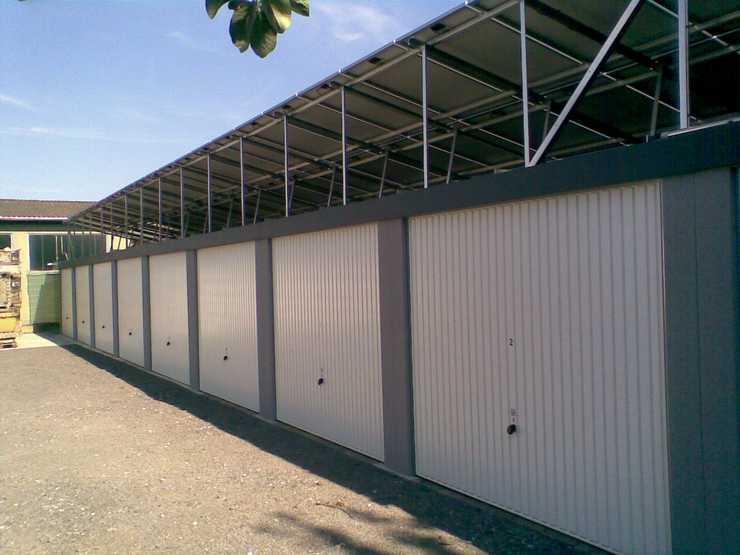 Reihengaragen: Kostenfalle Solaranlage