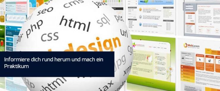 Ein Praktikum im Webdesign