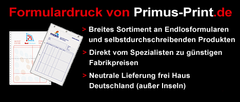 Formulardruck weiterhin sehr gefragt bei Primus-Print.de