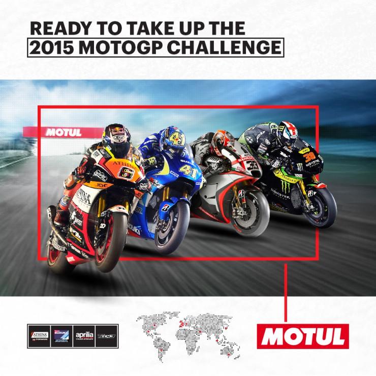 MOTUL beim Motorrad-Grand-Prix 2015: Schmierstoffproduzent ist erstmals Partner von vier Teams und drei Herstellern