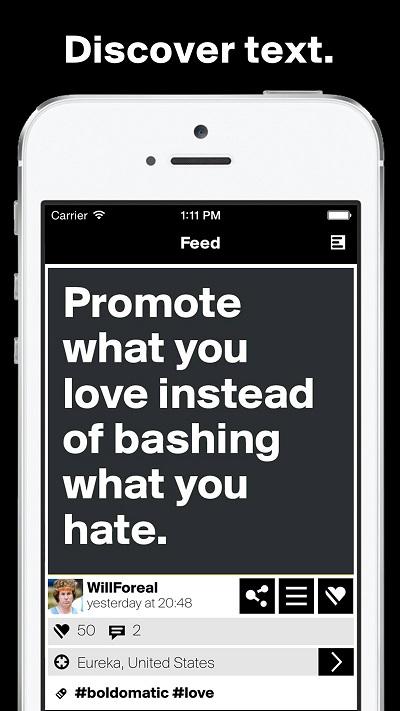 Boldomatic die #1 Text App verkündet Updates für iOS und Android und präsentiert das neue Badge System