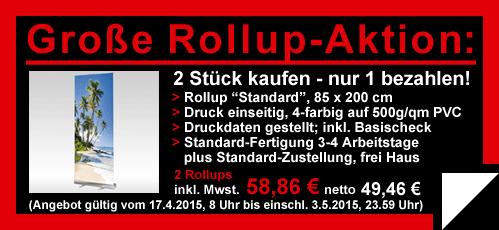 Druckmarke Primus-Print.de mit neuem Rollup-Aktionsangebot