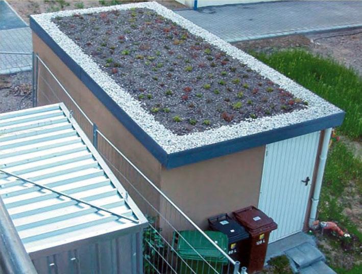 Dachpflanzen auf Exklusiv-Garagen leben von Kohlendioxid