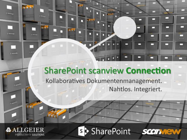 Intelligentes Dokumentenmanagement mit der SharePoint  scanview® Connection
