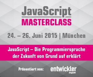Die erste JavaScript MasterClass im Juni in München