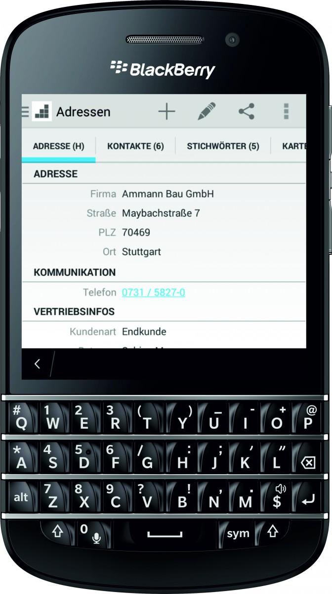 cobra Mobile CRM ab sofort auch für BlackBerry